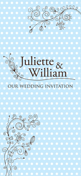 Dotty Blue Wedding Invitations