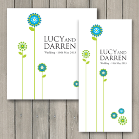 Daisy Wedding Invite - DL and Square format