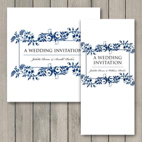 Flourish Wedding Invite - DL and Square format