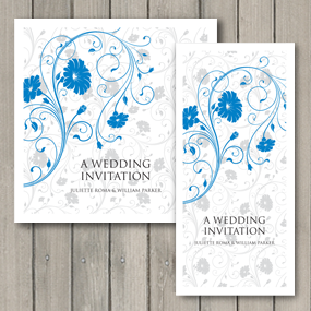 Romance Breeze Wedding Invite  - DL and Square format