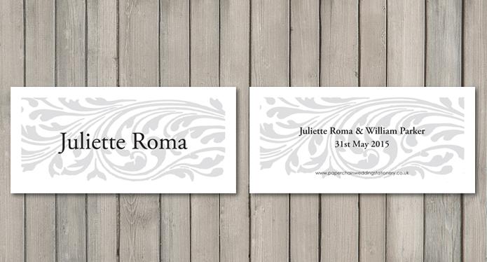 Elegance wedding stationery