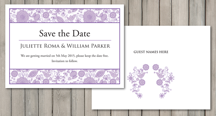 Love Birds Wedding Stationery Collection