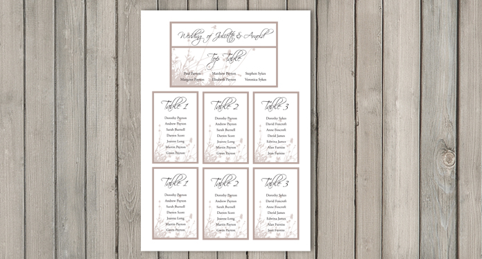 Summer Breeze Wedding Stationery