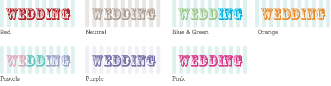 Carnival Wedding Sample Colours