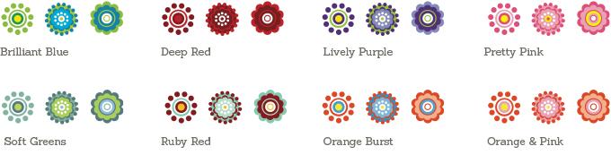 Daisy Wedding Sample Colours