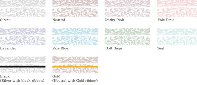 Elegance Wedding Sample Colours