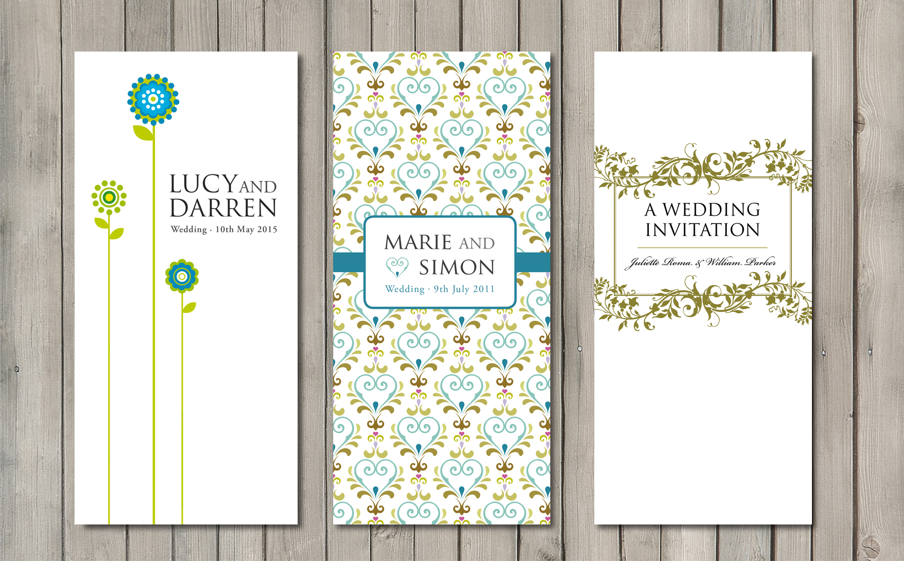 Wedding invitations from £1.25 | Paperchain Wedding Stationery