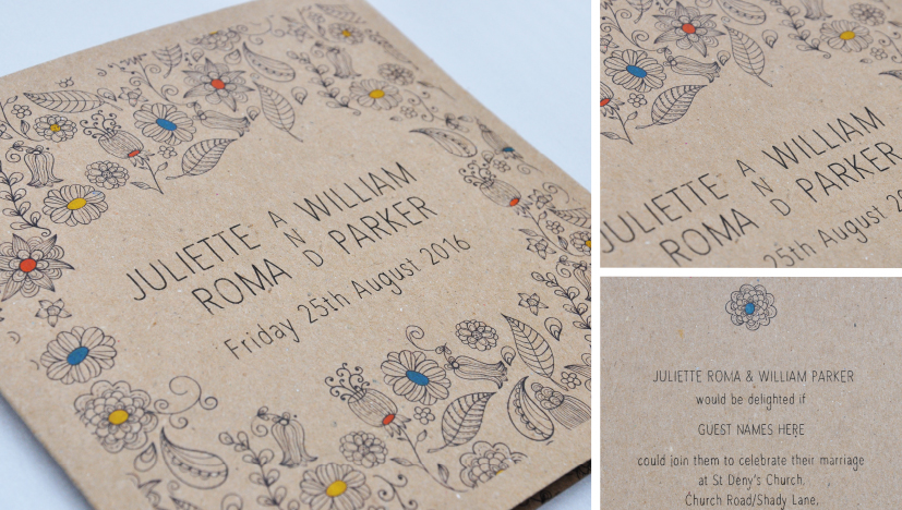 eco friendly wedding stationery | paperchain wedding stationery,