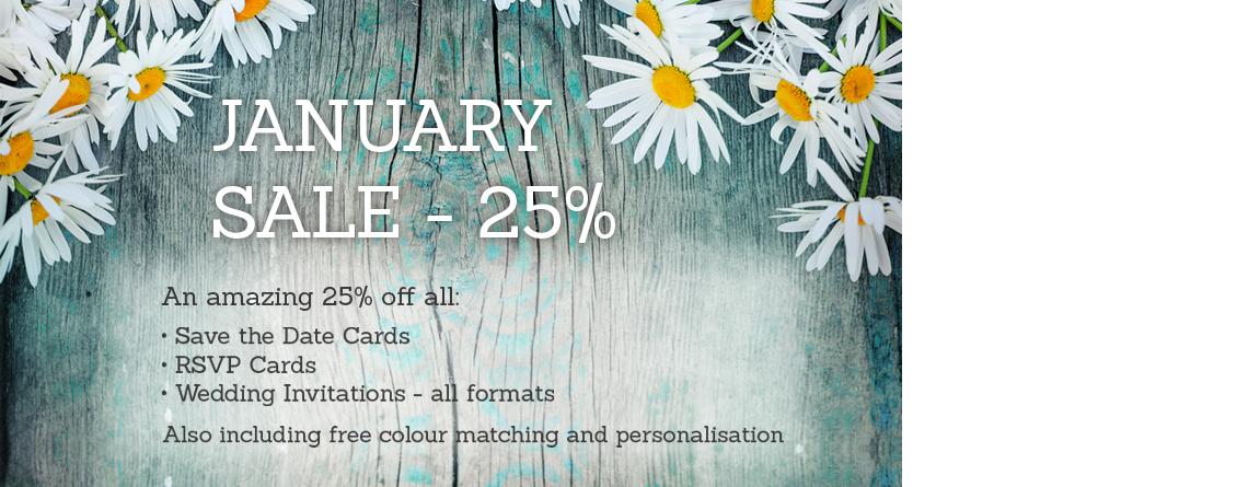 Wedding stationery January sale 25% off   Paperchain Wedding Stationery