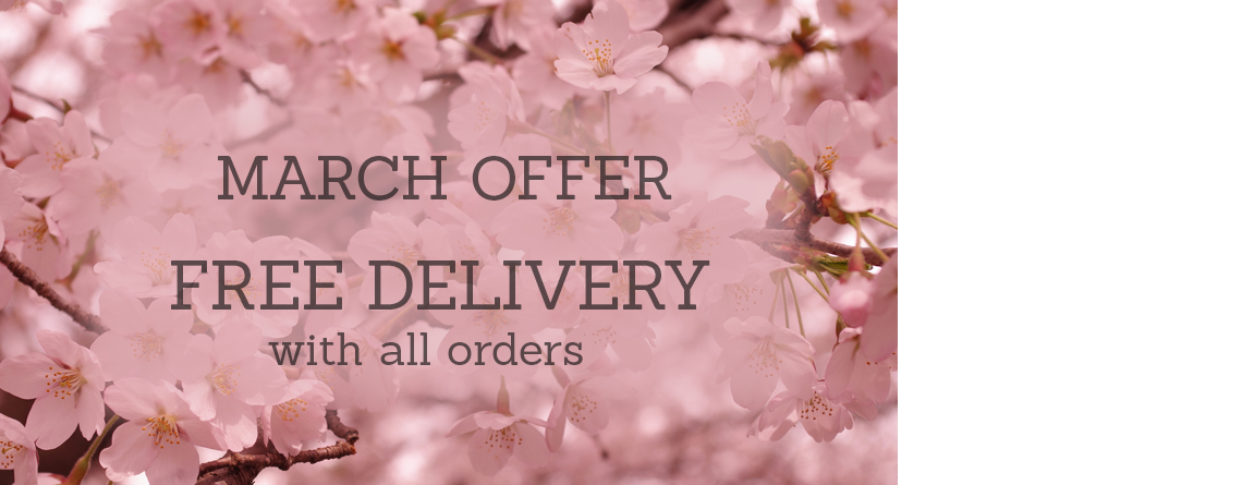 Free delivery on all wedding stationery throughout March