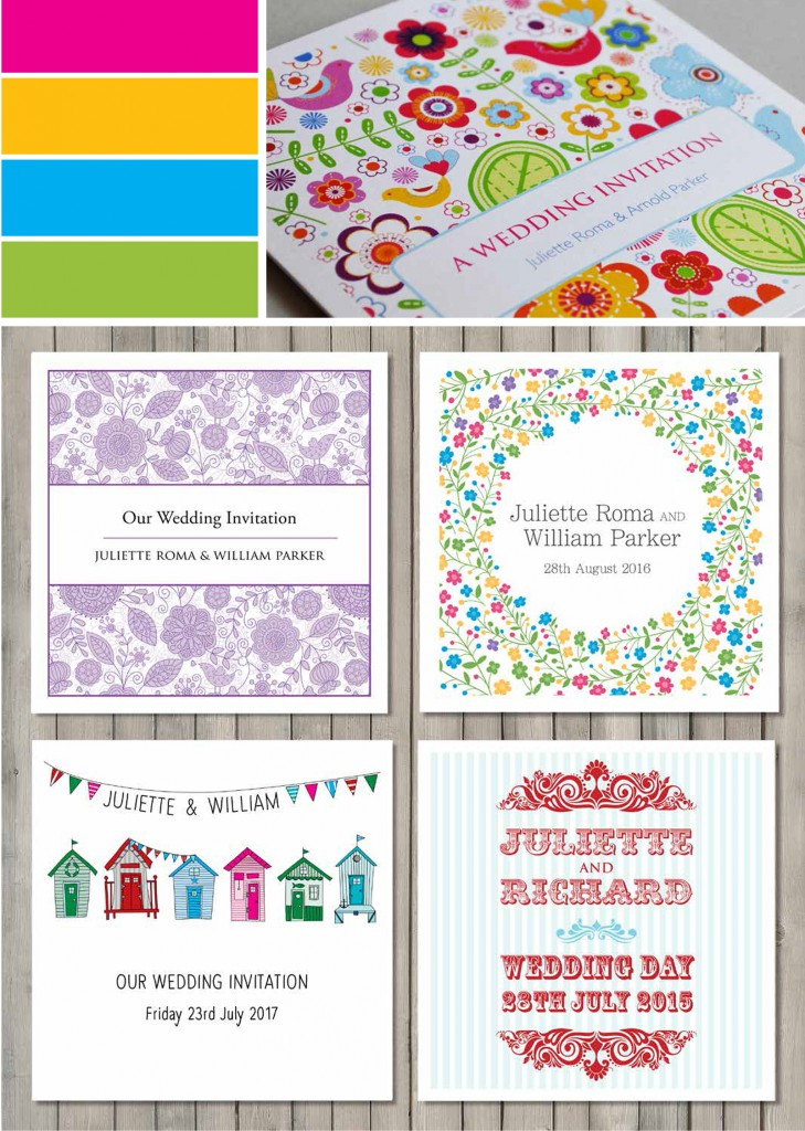 Bright and bold wedding stationery colour palettes | Paperchain ...