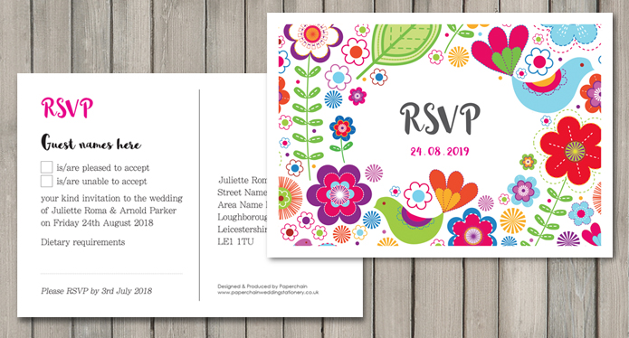 Sunshine wedding stationery