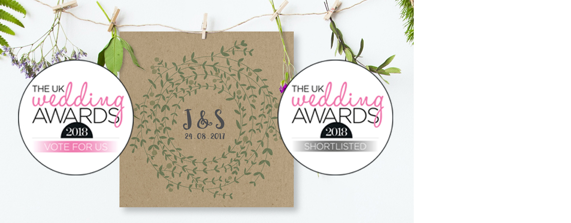 The UK Wedding Awards – we have been shortlisted!